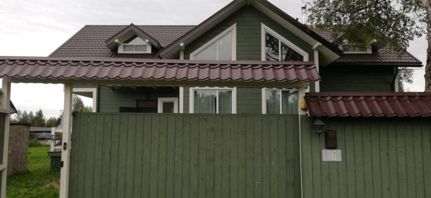 Видеонаблюдение в деревянном доме c готовым ремонтом